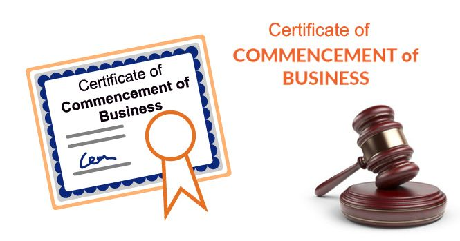 Commencement of Business Certificate